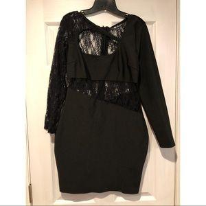 Fashionnova About Last Night Black Lace Dress